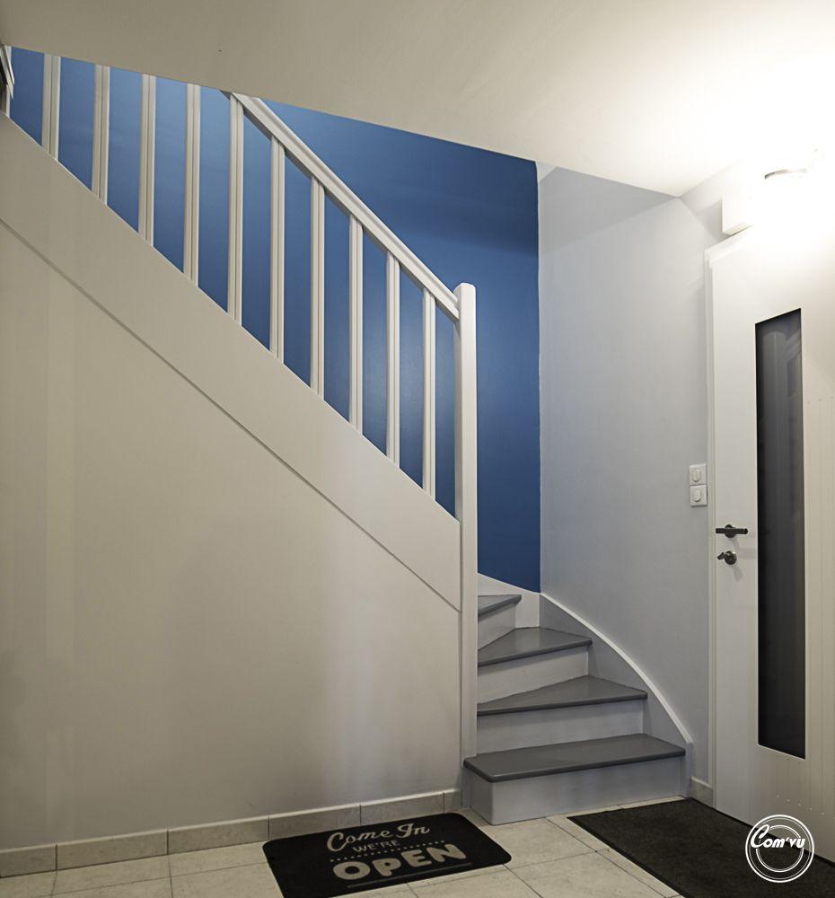 Travaux Renovation Cage Escalier Rennes Peinture Decoration